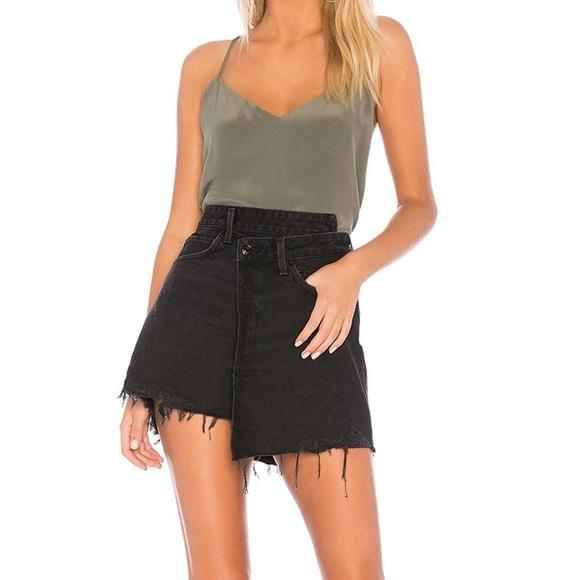 Agolde Dresses & Skirts - NWT Agolde Criss Cross Mini Denim Skirt in Pivot